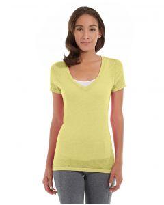Karissa V-Neck Tee-XS-Yellow